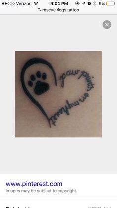 Paw print tattoo designs are very common among animal lovers and makes a symbolic gesture. So Let choose best print tattoos from shown designs. Neue Tattoos, Dog Tattoos, Animal Tattoos, Body Art Tattoos, Tattoo Cat, Cat Paw Print Tattoo, Sad Tattoo, Tattoo Quotes, Bird Tattoos