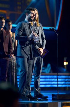 Blessed on Stage Adam Levine and James Valentine #PeoplesChoice Award #FavoriteBand is @maroon5 #PCA2013 39th Annual People's Choice Awards