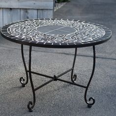 Have to have it. Palazetto Vesuvio 36 in. Round Mosaic Chat Table with Iron Rim $159.01