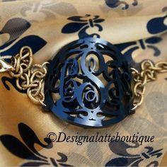 Flourish bracelet Black with gold chain Rainbow Dash Party, My Little Pony Party, Flourish, Gold Chains, Latte, Boutique, Bracelets, Black, Jewelry