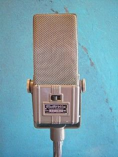 "Vintage 1940's Electro Voice V-2 ""Velocity"" Ribbon microphone midcentury old # 1"