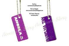 Customized acrylic keychain name designs. Completed as of July 21, 2012.