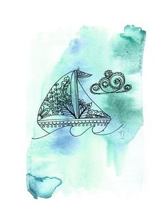 Sailboat Print (More Colors)