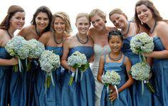 Pix For > Blue Hydrangea Wedding Bouquet