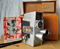 Vintage Movie Camera Revere EyeMatic 8mm with by cynthiasattic, $85.00