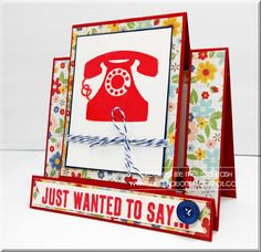 Just wanted to say...GRS Feb Color Challenge #gourmetrubberstamps
