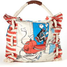 Cat in the Hat Tote by Dr. Seuss (via Zulily) Disney Purse, Funny Fashion, Cat Hat, Little People, Cotton Tote Bags, Baby Boy Outfits, Purses And Handbags, Boy Or Girl, Diaper Bag