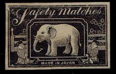 Old-Matchbox-Label-Japan-India-China-elephant