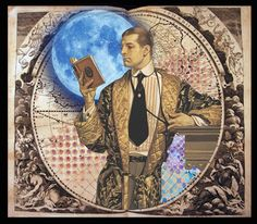 Man of the World by SHELBY PIZZARRO Sisterhood of the Muse  Lunagirl Moonbeams by Lunagirl Vintage Images