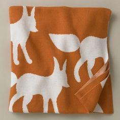 DwellStudio Knit Blanket - Foxes