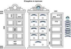 Mobilier Alsacien - maison de poupée - vitrines miniatures  voir ce contenu pour des astuces de construction