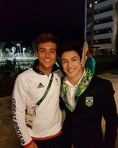 Tom Daley and Arthur Nory