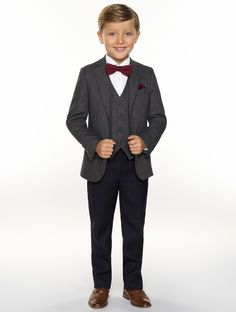 Shop for boys grey check suit, Alfie at Roco. Boys herringbone suit perfect as a page boy suit with free UK free delivery & 30 day returns. Wedding Outfit For Boys, Winter Wedding Outfits, Perfect Wedding Dress, Winter Outfits, Grey Tweed Suit, Tweed Suits, Navy Suits, Tweed Wedding Suits, Boys Wedding Suits