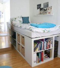 37 Amazing Bedroom Apartment Organization Ideas - Page 2 of 2 Bedroom Bed, Bedroom Apartment, Bedroom Decor, Girls Bedroom, Bedroom Small, Closet Bedroom, Small Rooms, Kids Rooms, Bedroom Furniture