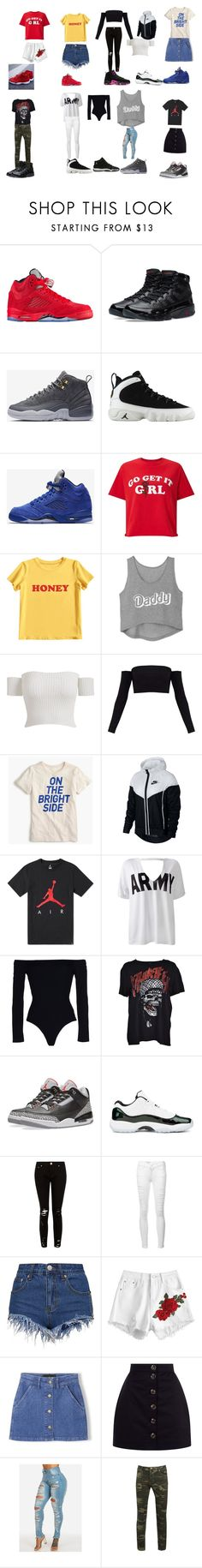 """""""Living the sneaker life .?🤩🔥"""" by shankiahester ❤ liked on Polyvore featuring NIKE, Miss Selfridge, MIEL, Issa, J.Crew, Sans Souci, Kendall + Kylie, R13 and Frame"""