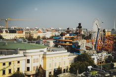 View from the Ferris Wheel in Prater Park. As featured in The Living Daylights. James Bond, Vienna, Ferris Wheel, Paris Skyline, Park, Travel, Voyage, Parks, Viajes