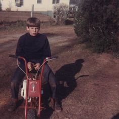 Me on my mini-bike about 1968. Mini bikes were pretty popular back then. (Dave Brock photo)