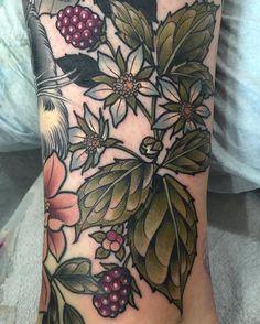 Vadelma-tatuointi! Ihana!