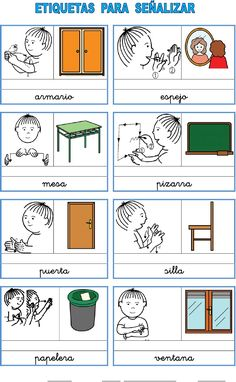 Etiquetas_señalizar_aula Sign Language For Kids, Sign Language Alphabet, Learn Sign Language, Deaf Education Activities, Activities For Kids, Deaf Children, Different Fonts, Quick Knits, Knitted Blankets