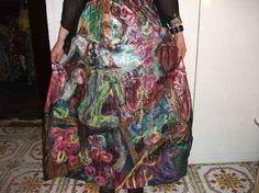 handpainted silk skirt - pinned by pin4etsy.com