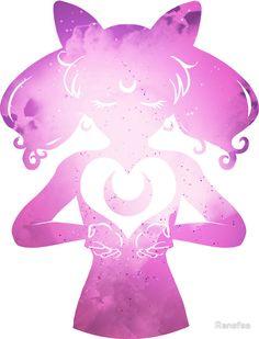 'Cosmic Chibi Moon Sticker by Ranefea Chibi Moon, Sailor Mercury, Sailor Moon Crystal, Cosmic, Disney Characters, Fictional Characters, Kawaii, Stickers, Disney Princess