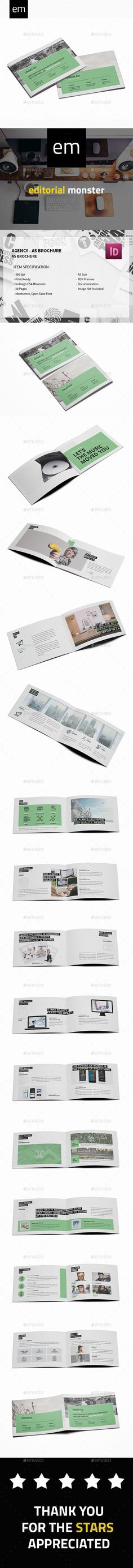 Agency A5 Brochure — InDesign INDD #business #element • Available here → https://graphicriver.net/item/agency-a5-brochure/20441971?ref=pxcr