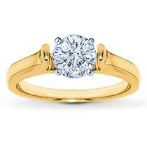 Subtle flares of yellow gold accentuate the center of this solitaire ring setting. Choose your own diamond (size and cut). Solitaire Setting, Solitaire Ring, Jared Engagement Rings, Photo Link, Diamond Sizes, Here Comes The Bride, Product Description, Yellow, Gold
