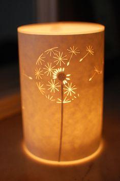 Diente de León reloj luz de las velas