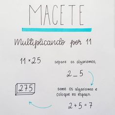Macete  Multiplicando por 11