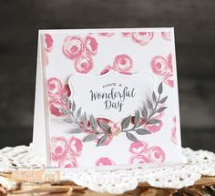 Have a Wonderful Day by Laurie Schmidlin - Created using the Old Country Roses stamp set (illustrated by Claire Brennan) from Gina K Designs