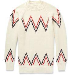 Maison Kitsuné - Zig-Zag Alpaca Sweater|MR PORTER