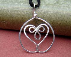 Celtic Embraced Heart Sterling Silver Pendant by nicholasandfelice, $ 18.00