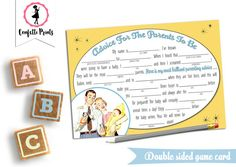 Baby Shower Game  Funny Baby Shower Game  by ConfettiPrintsShop