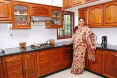 Indian kitchen design small kitchen interior design ideas in Simple Kitchen Design, Kitchen Room Design, Interior Design Kitchen, Home Design, Küchen Design, Design Ideas, Kitchen Cupboard Designs, Kitchen Designs Photos, Layout Design