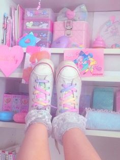 Cute Pastel shoelaces never used Perfect for white shoes or any outfit 43 3 inches in length Tags- shoelaces pastel kawaii pastel goth pastelgoth lolita cute japanese accessories ribbon ties rainbow gay pride Harajuku Fashion, Kawaii Fashion, Lolita Fashion, Cute Fashion, Gothic Fashion, Estilo Harajuku, Style Kawaii, Mode Kawaii, Style Lolita