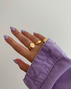 Cute Acrylic Nails, Cute Nails, Pretty Nails, Lavender Aesthetic, Purple Aesthetic, Aesthetic Grunge, Aesthetic Fashion, Aesthetic Girl, Hair And Nails