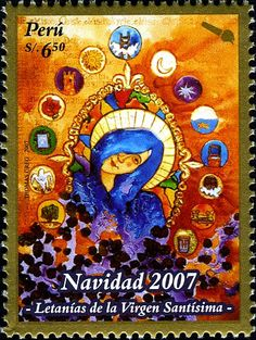 Leena, the Postationist elf, can just imagine the fun that children must have at Christmastime in Peru. Just imagine, Christmas in summer!! (Stamp: PERU 2007)