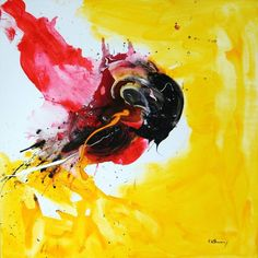 Buy No. 383, a Acrylic on Canvas by Vera Komnig from Germany. It portrays: Abstract, relevant to: acrylic, parrot, red, bird, yellow, contemporary art, canvas, vera komnig, explosion, abstract, expressive art, nature Acrylic on canvas    Artists stretcher frame: Frame thickness: 38 mm.   Heavy, high quality canvas, 380gr/ m2. Triple priming with acrylic Gesso, acid free.  Sides are painted to exhibit the finished painting without the need of an additional frame.  All my paintings are se...