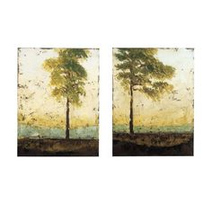 Custom Soliloquy Art- soft trees for above master bed