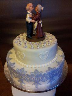 Torte zur Diamant Hochzeit