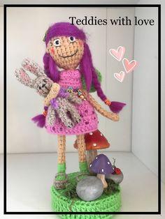 Crochet fairy Crochet Fairy, Crochet Dolls, Teddy Bear, Christmas Ornaments, Toys, Holiday Decor, Pattern, Animals, Inspiration
