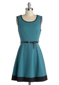 Flight of Fancy Dress in Teal. The sky's the limit to your sartorial splendor - literally! #blue #modcloth