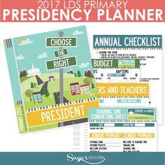 2017 LDS Primary Presidency Planner