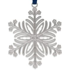1973 Snowflake Christmas Ornament - The Met Store.  2 1/2'' diam. Solid brass electroplated with non-tarnishing silver finish.