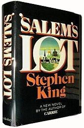 A true first edition of Salem's Lot from 1975, Stephen King's second  book. The asking price was a whopping $ 90,055 and around 95% of that price-tag is accounted for by the dust jacket alone.  The first Stephen King book I read.  And I was hooked.