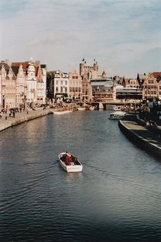 View on the Graslei in Ghent, Belgium//