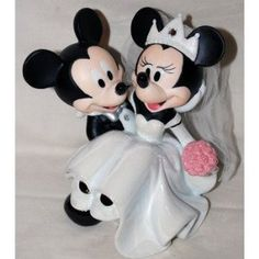 mickey and Minnie cake topper #wedding #cake #Topper #Disney