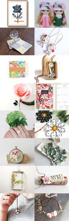 Floral Finds  by Mirichan on Etsy--Pinned with TreasuryPin.com