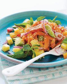 Avocado Mango Chopped Salad with Miso Dressing