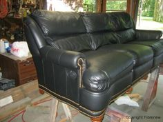 Complete Leather Couch Refurbishing After Northeast Boston Revere Ma Couches